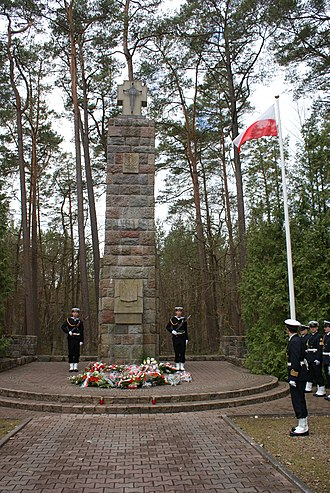 Wielka Piaśnica - Memorial outside the village during celebrations