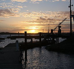 Pontoons in the sunset - geograph.org.uk - 711849.jpg