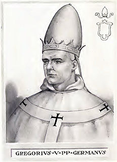 Pope Gregory V Pope from 996 to 999