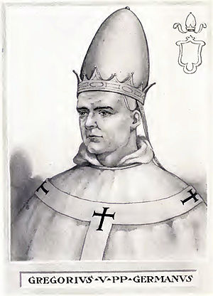 Pope Gregory V - Image: Pope Gregory V