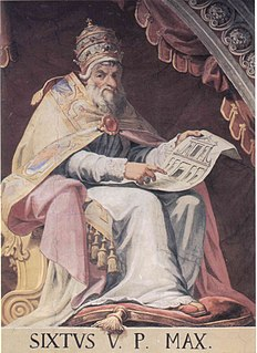 Pope Sixtus V pope