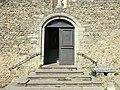 Porte de l'église de la cité médiévale de Pérouges.JPG
