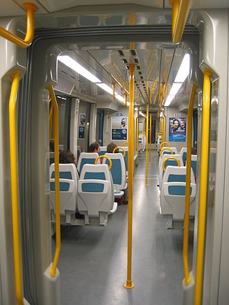 Porto Metro - On board a Porto Metro train