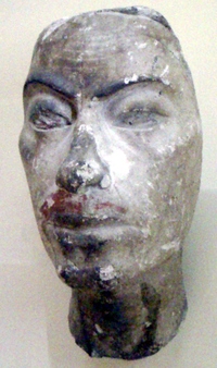 Portrait study bust, thought to be that of Ay, from the studio of the royal sculptor Thutmose.