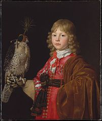 Portrait of a Boy with a Falcon
