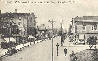 Metuchen, New Jersey - View from train station 1911