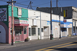 Lents, Portland, Oregon - PDC Storefront Improvement Program eligible
