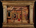 Potiphar's wife denouncing Joseph to Potiphar. Tempera paint Wellcome L0028689.jpg