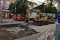 Praha, Vinohrady, Bělehradská, tramvajová rekonstrukce, stavební technika.jpg