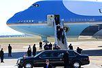 President Barack Obama, accompanied by Sens. Lamar Alexander and Bob Corker, and Congressman Jim Duncan, are greeted by Vice President Joe Biden.jpg