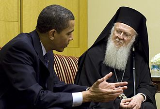 Bartholomew I of Constantinople - United States President Barack Obama meets with Bartholomew I.