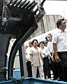 President Gloria Macapagal-Arroyo views the pumping machine during the launching of the Abucay Pumping Station.jpg