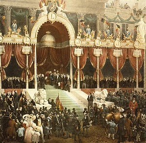 Belgian Revolution - Leopold taking the constitutional oath. By Gustaf Wappers