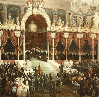 Leopold I of Belgium - Leopold taking the constitutional oath during his enthronement. By the artist Gustaf Wappers