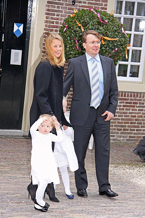 Princess Mabel of Orange-Nassau - Prince Friso with his wife Mabel and daughters in 2010