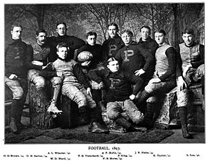 1893 Princeton Tigers football team - Image: Princeton Tigers football team (1893)
