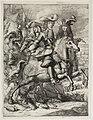 Prins Willem III naast de hertog van Monmouth te paard met andere leden van zijn staf. NL-HlmNHA 53009081.JPG
