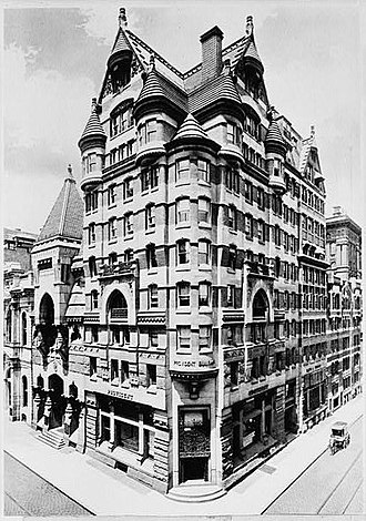 Provident Life & Trust Company - Provident Building, 401-09 Chestnut Street, Philadelphia, PA (1888-90, demolished 1945) in 1910.