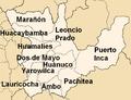 Provinces of the Huánuco region in Peru.png