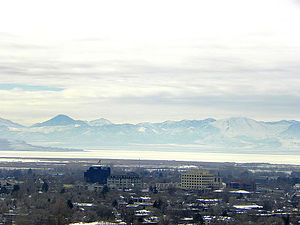 East Tintic Mountains - Image: Provo skyline winter