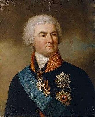 Pyotr Zavadovsky - Portrait of Zavadovsky by Stepan Shchukin