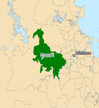 Electoral district of Moggill - Electoral map of Moggill 2008