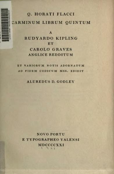 File:Q Horati Flacci Carminum librum quintum.djvu