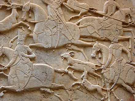 The Qajarid reliefs of Tangeh Savashi were made by order of Fath Ali Shah. - Iranian art