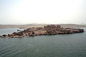 Qasr Ibrim - Island of Qasr Ibrim in the Lake Nasser, Egypt