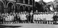 Queensland State Archives 3952 School children at Parliament House Brisbane c 1935.png