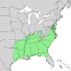 Quercus falcata range map 1.png