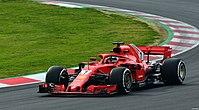 Räikkönen Ferrari SF71H Testing Barcelona.jpg