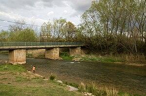 Jalón (river) - The river Jalón in Terrer, Zaragoza (province).