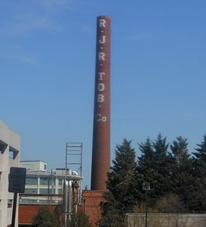 R. J. Reynolds Tobacco Company - R.J. Reynolds Tobacco Factory in Downtown Winston-Salem, NC