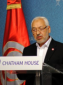 Rached Ghannouchi à Chatham House, en avril 2013.