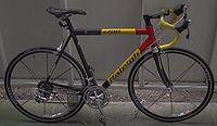Una moderna bicicletta da corsa