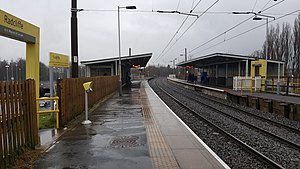 Radcliffe tram stop - Radcliffe Metrolink station in January 2017