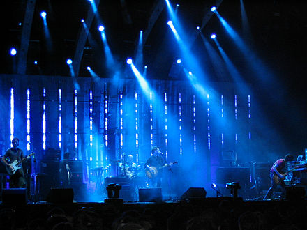Goldenvoice's Paul Tollett credits Radiohead's appearance at the 2004 festival with elevating the festival's stature. Radiohead Coachella 2004.jpg