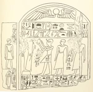 Rahotep - Image: Rahotep stele BM Budge