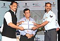 Rajiv Pratap Rudy awarded the certificates and placement letters to the skill trained IAF personnel, at the Skill India's First-ever placement ceremony of retiring Indian Air Force personnel, in New Delhi.jpg