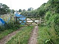 Ramshackle stile at Snipehill Bridge - geograph.org.uk - 544819.jpg