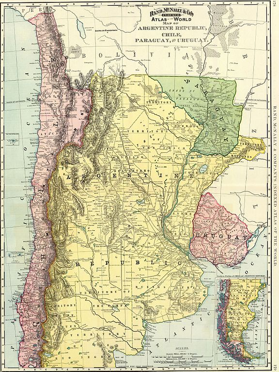FileRand McNally Cos Indexed Atlas Of The World Map Of - Uruguay map atlas