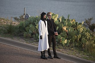 Vogue (magazine) -  Models Toni Garrn and brother Niklas Garrn wearing Google Glass during the 2013 September issue fashion photo shoot in Ransom Canyon, Texas (25 June 2013).