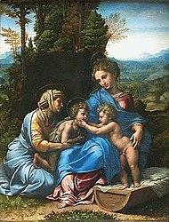 Raphael: Holy Family with Saint Elizabeth and the infant St. John