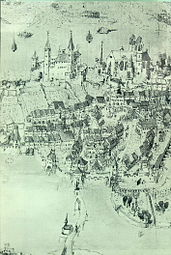 Siege of Rapperswil 1656, pen drawing (detail), City Archives Rapperswil-Jona