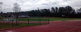 Ravenscroft School - Ravenscroft School football field and track