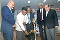 """Ravi Shankar Prasad lighting the lamp to inaugurate a seminar on """"Information Technology & Cyber Crime – Challenges Faced by Indian and International Organisation"""", in Mumbai.jpg"""