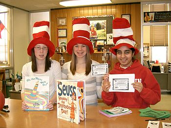English: Library Aides for Read Across America