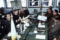 Rear Admiral Larry G. Vogt, center left, and other senior members of the United Nations Command face their North Korean counterparts across the negotiating table during the 458th Military Armistice Commission DN-ST-91-02135.jpg