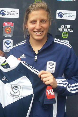 Rebekah Stott - Rebekah Stott with Melbourne Victory in 2012